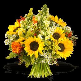 Blumenstrauß mit gelben Sommerblumen Sunny Day