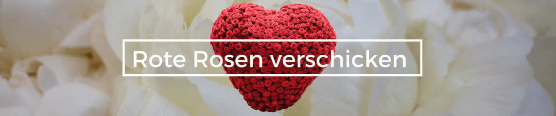 Rote Rosen verschicken - Rosen Versand - Lieferservice