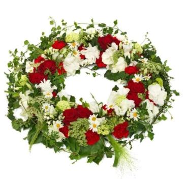 Trauerkranz rot weiß