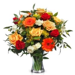 blumenstrauss-gluecksmoment-bunte-rosen