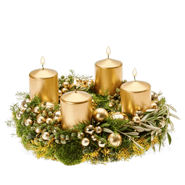 Adventskranz gold