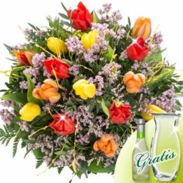 Blumenstrauß Tulpentraum mit Vase & Secco