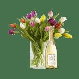 20 Stiele Bunte Tulpen mit Sekt Jules Mumm
