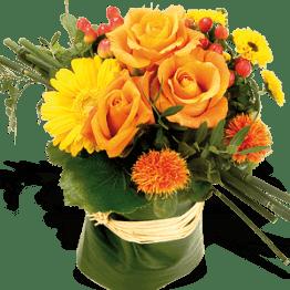Rosen und Gerbera Blumenstrauß