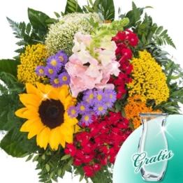 Blumenstrauß Glückspost mit Vase