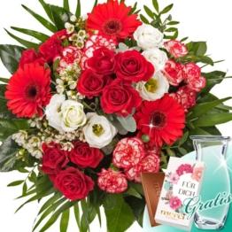 Blumenstrauß Prachtvoll mit Vase & Merci Schokolade
