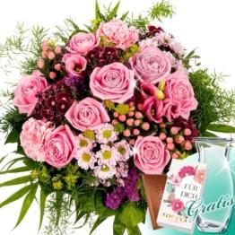 Blumenstrauß Prima Vera mit Vase & Merci Schokolade