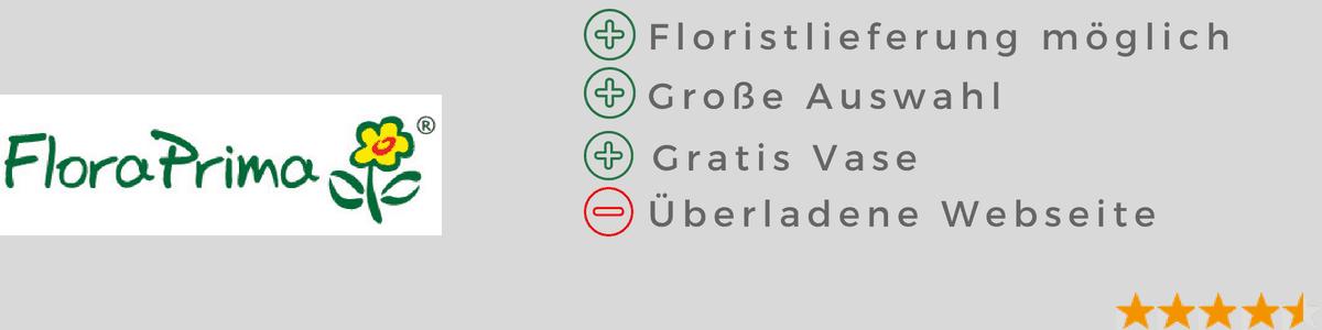 Blumen verschicken: floraprima Test - Blumenversand