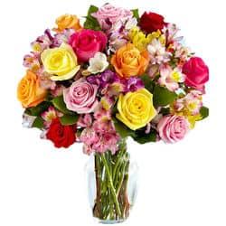 Blumenversand USA - Bunter Blumenstrauß