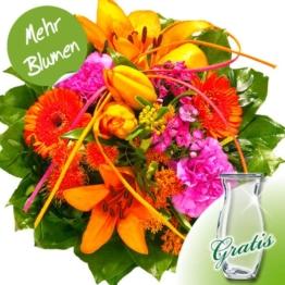 Blumenstrauß Flamenco mit Vase