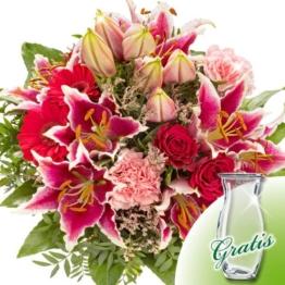 Blumenstrauß Karat mit Vase