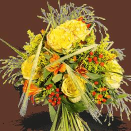 Sonniger Herbst Blumenstrauß