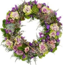 lila-trauerkranz - Beerdigungskranz