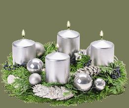Adventkranz Silberschweif
