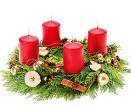 Adventkranz Weihnachtsbäckerei