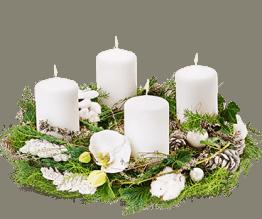 Schneeflöckchen Adventskranz