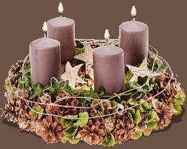 Wald und Weihnacht - Adentskranz
