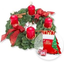 Adventskranz Advent, Advent und Mon Cheri Stiefel