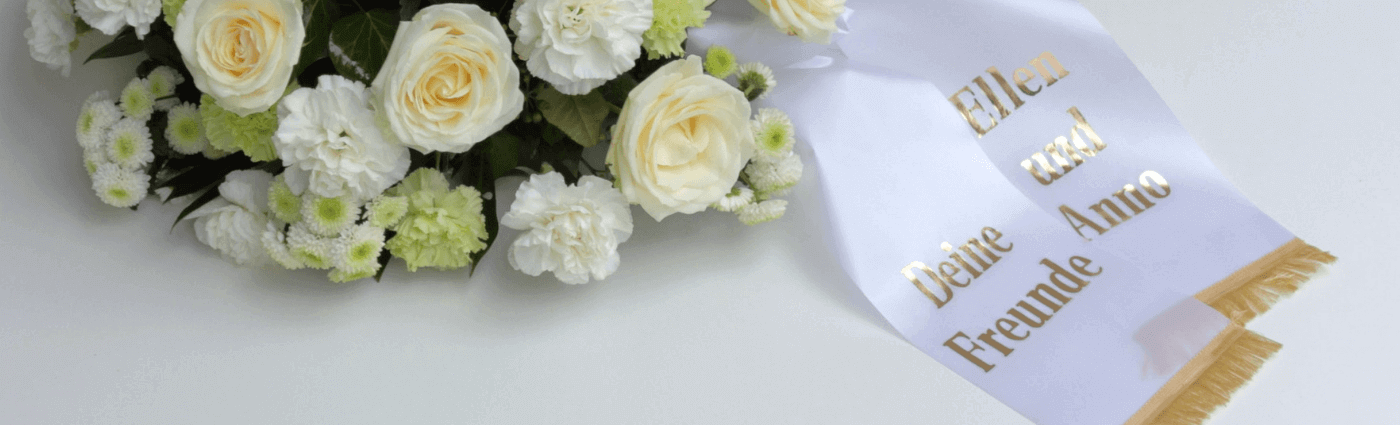 Trauerkranz Schleifentext online bestellen | Beerdigungskranz Spruch