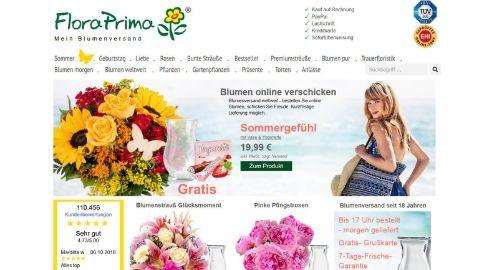 Blumenverand FloraPrima -Test Blumen verschicken