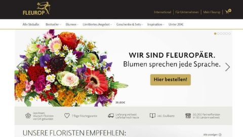 Blumenversand Test - Fleurop