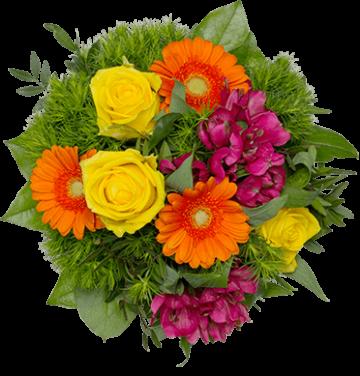Fröhlicher-Blumengruß