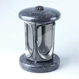designgrab alu grablampe aus aluminium in antikoptik in granit orion blue vizac