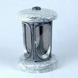 designgrab alu grablampe aus aluminium in antikoptik in granit viscont white 1