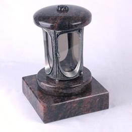 designgrab alu grablampe mit granit sockel 20x20x5 cm aus aluminium in antikopti
