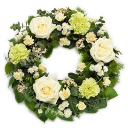 Trauerkranz online bestellen | Beerdigungskranz mit Schleife