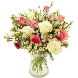 Weiße-und-Rosa-Rosen