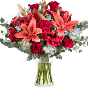 Lilien und Rosen
