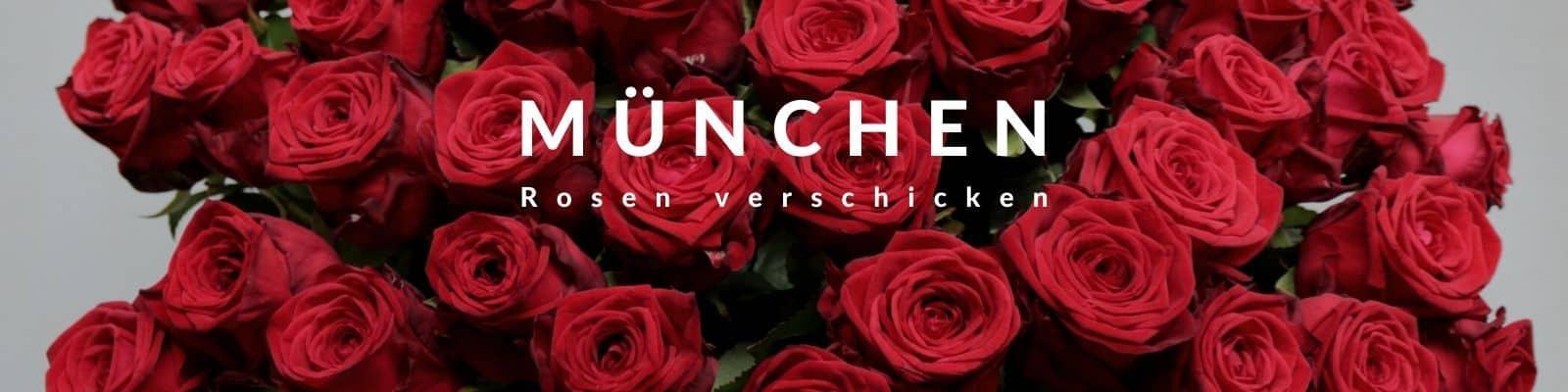 Rosen verschicken München - Rosenbote und Blumenbote in München