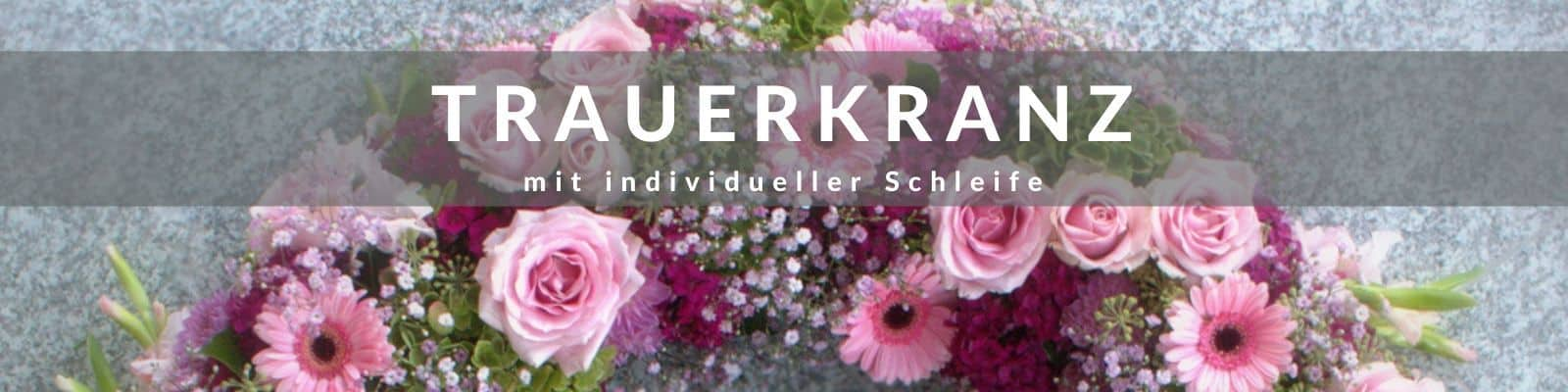Trauerkranz online bestellen - Beerdigungskranz mit Schleife