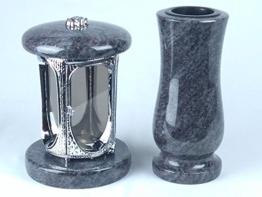 designgrab grablampe aus verchromtem aluminium und grabvase taille medium in gra