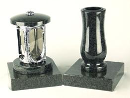 designgrab grablampe aus verchromtem aluminium und grabvase taille medium und 2