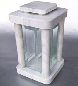 designgrab modern grablampe aus carrara marmor weiss 1