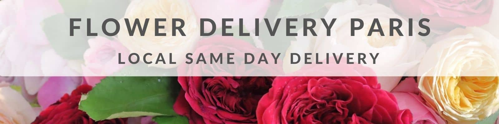 Send Flowers to Paris LOCAL SAME DAY DELIVERY