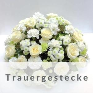 Trauergesteck mit Schleife -Trauergestecke