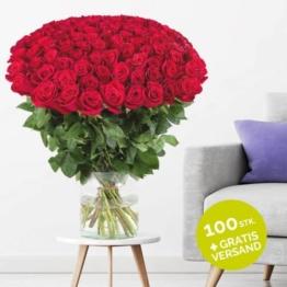 100 Rosen verschicken - Blumen online shop