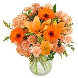 Orange Blumenstrauß verschicken