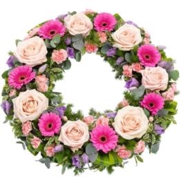 Trauerkranz rosa - lila