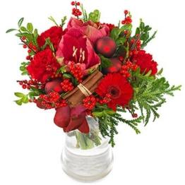 Blumenstrauß roter Samt