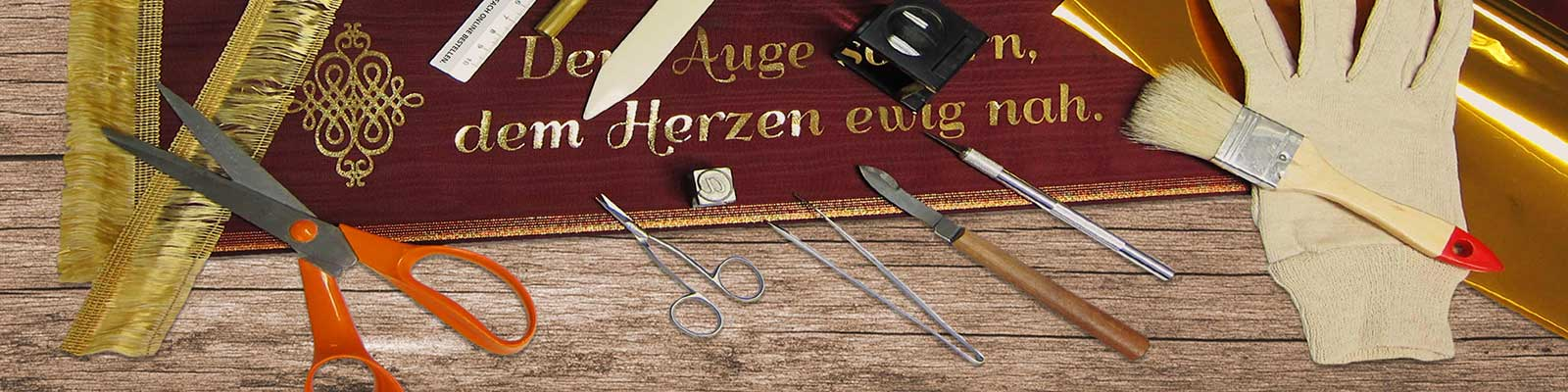 Fertigung-Banner - Trauerschleif mit Spruch online bestellen