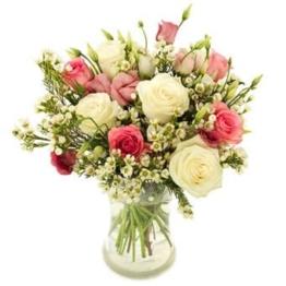 Blumenversand Weiße und Rosa Rosen