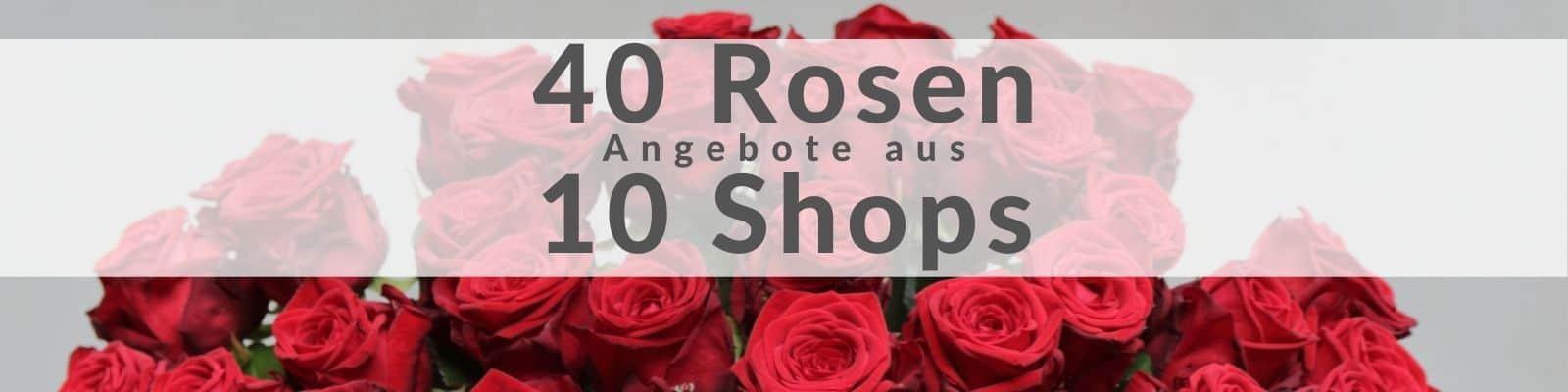 40 Rosen verschicken